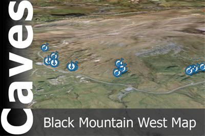 Black Mountain West Caves Map