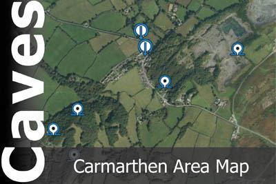 Carmarthen Area Caves Map
