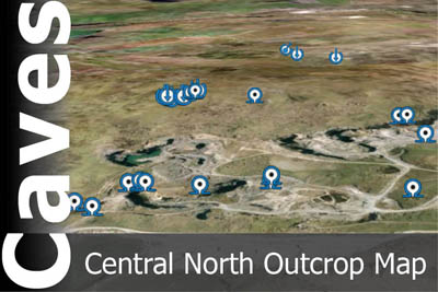 Central Northern Outcrop Caves Map