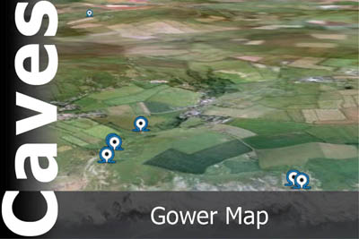 Gower Caves Map