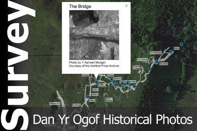Dan Yr Ogof interactive survey with historical photos