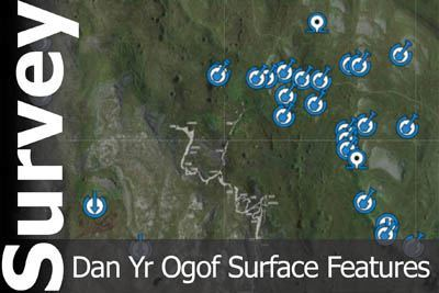 Dan Yr Ogof interactive survey showing surface features