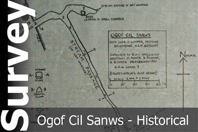 Ogof Cil Sanws Survey - For Historical Interest Only