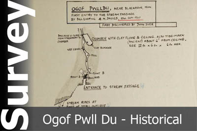 Ogof Pwll Du Survey - For Historical Interest Only