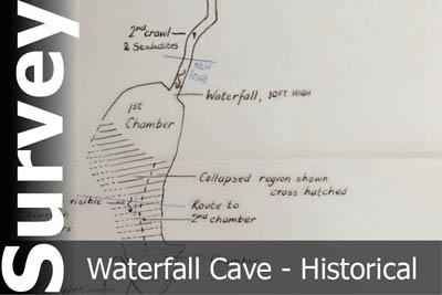 Waterfall Cave Survey - For Historical Interest Only